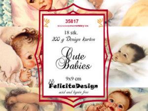 35817 Felicita Design Toppers 9 x 9 cm Cute Babies-0