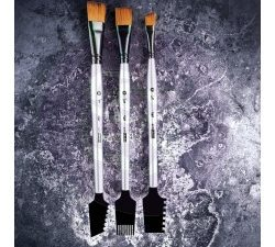 963873 Finnabair Art Basics Double-Sided Texture Brushes Set 1 -0