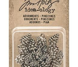 TH93633 Tim Holtz Idea-ology Adornments Pinecones-0
