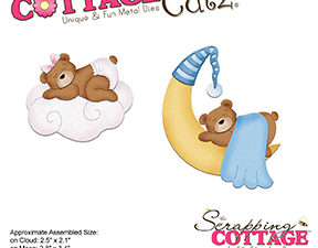 CC-296 Cottage Cutz Die Bear on Cloud and Moon-0