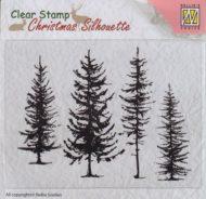 CSIL004 Nellie Snellen Clearstamp Pine Trees-0