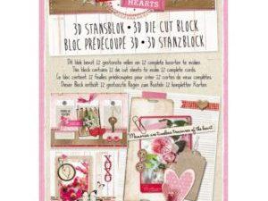 STANSBLOKSL45 StudioLight Udstanset Papirblok 3D Loving Hearts-0