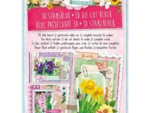 STANSBLOKSL47 StudioLight Udstanset Papirblok 3D Flowers Through The Year-0