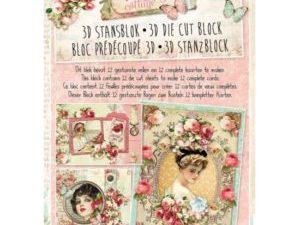STANSBLOKSL49 StudioLight Udstanset Papirblok 3D Vintage Cottage-0