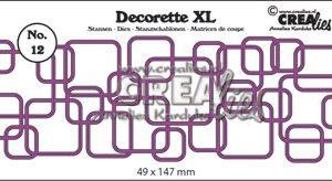 CLDRXL12 CreaLies Die Decorette XL Firkant Mix -0