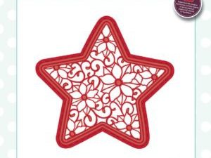 CED3093 Creative Expressions Sue Wilson Die Festive Collection Poinsettia Star-0