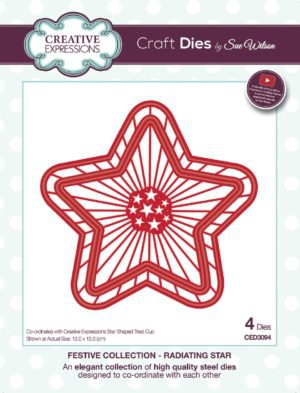 CETREATSTAR Creative Expressions Sue Wilson Finishing Touches Treat Cups Star-4722