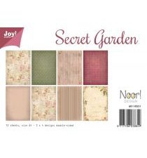 6011/0531 JOY Papirsblok A4 Secret Garden-0