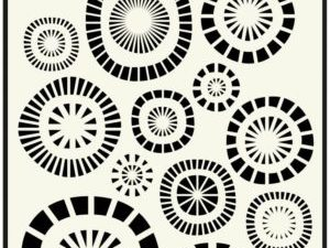 470.715.107 Dutch Doobadoo Mask Stencil A5 Circles-0