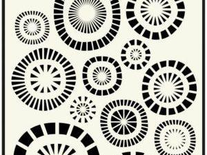 470.715.107 Dutch Doobadoo Mask Stencil A5 Circles-0