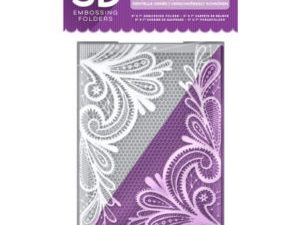 EF5-3D-OLACE Crafter's Companion 3D Embossingfolder Ornate Lace-0