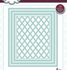 CED9303 Creative Expression Sue Wilson Die Shadow Box Collection Stitched Lattice Frames-0