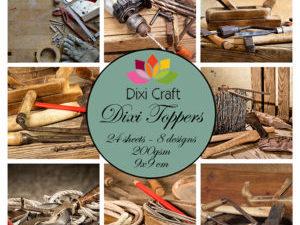 ET0301 Dixi Craft Toppers 9X9CM 24 ark Værktøj Farver-0