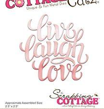 CC-321 Cottage Cutz Die Live Laugh Love-0