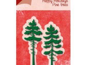 6002/0777 JOY Die Cut/emb Happy Holidays Pine Trees-0