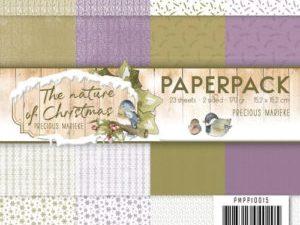 PMPP10015 Precious Marieke Papirsblok The Nature Of Christmas-0