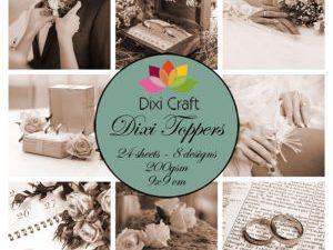 ET0304 Dixi Craft Toppers Bryllup Brune Nuancer-0