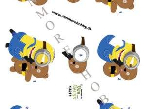 13211 Dan Design 3D 1 Ark Minions med Bamse-0