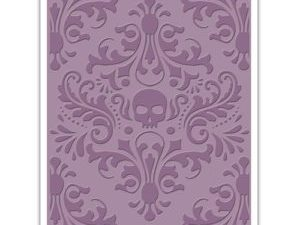 662390 Sizzix Tim Holtz Embossing Folder Skull Damask-0