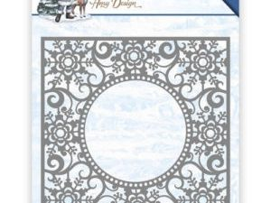 ADD10109 Amy Design Die The Feeling of Christmas Ice Crystal Frame-0