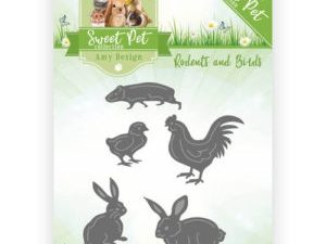 ADD10119 Amy Design Die Sweet Pet Collection Rodents And Birds-0
