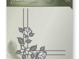 JAD10014 Jeanine`s Art Die, Hjørne med rose-0