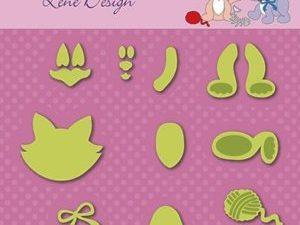 SDL046 Nellie Snellen Die Lene Design Shape Die Kitten-0