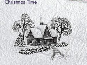 CT019 Nellie Snellen Clearstamps Christmas Time Idyllic winter scene-0
