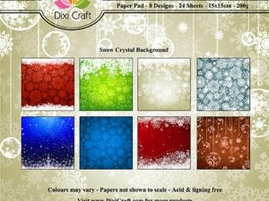 PP0086 Dixi Craft Papirspakning Snow Crystal Background-0