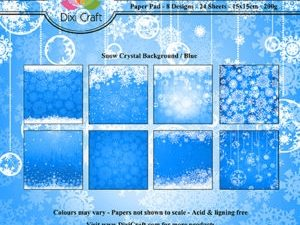 PP0088 Dixi Craft Papirspakning Snow Crystal Background Blue-0