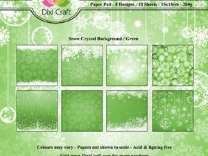 PP0089 Dixi Craft Papirspakning Snow Crystal Background Green-0