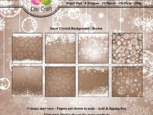 PP0090 Dixi Craft Papirspakning Snow Crystal Background Brown-0