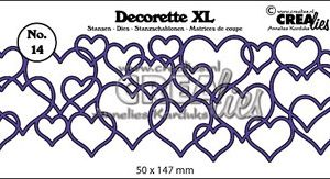CLDRXL14 Crealies Die Decorette XL Hjerter-0
