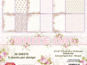 CPB-WD15 Craft & You Papirblok White Day-0
