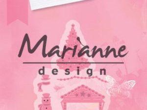COL1440 Marianne Design Die Collectables Eline's Village Decoration set 5-0