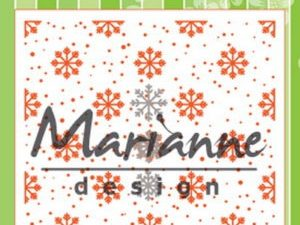 DF3440 Marianne Design Die Emb.folder & die Snow and Ice Crystals-0