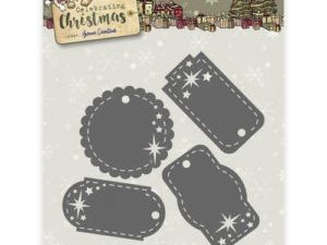 YCD10110 Yvonne Creations Die Celebrating Christmas Star Tags-0