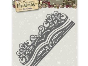 YCD10112 Yvonne Creations Die Celebrating Christmas Holly Border-0