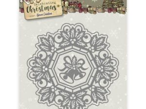 YCD10113 Yvonne Creations Die Celebrating Christmas Jingle Bells Circle Frame-0