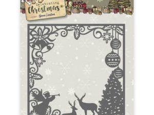 YCD10115 Yvonne Creations Die Celebrating Christmas Scene Square Frame-0