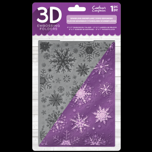 EF5-3D-X-SSNOW Crafter's Companion 3D Embossingfolder Sparkling Snowflake-0
