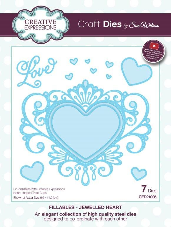 CETREATHEART Creative Expressions Finishing Touches Heart Shape treat Cups-5212