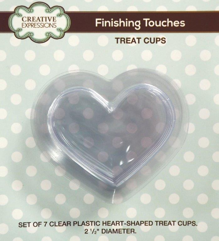 CETREATHEART Creative Expressions Finishing Touches Heart Shape treat Cups-0