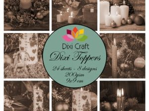 ET0310 Dixi Craft Toppers Juledekorationer-0