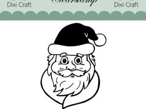 STAMP0104 Dixi Craft Clearstamp Santa Claus-0