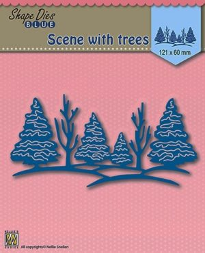 SDB003 Nellie Snellen Die Shape Blue Scene With trees-0