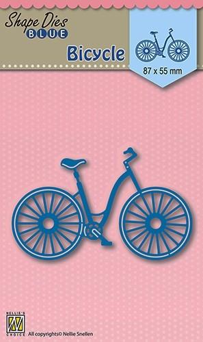 SDB004 Nellie Snellen Die Shape Blue Bicycle-0