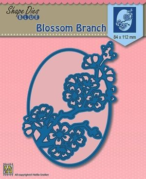 SDB007 Nellie Snellen Die Shape Blue Blossom Branch-0