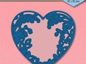 SDB008 Nellie Snellen Die Shape Blue Snowdrops Heart-0