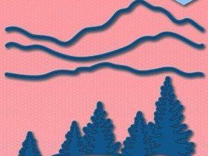 SDB011 Nellie Snellen Die Shape Blue Landscape Scene 2-0